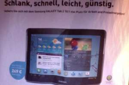 Galaxy Tab 2 10.1 ohne Vertrag für 249 EUR