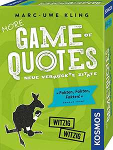 [Amazon Prime] KOSMOS 693145 - More Game of Quotes, weitere verrückte Zitate, von Bestsellerautor Marc-Uwe Kling, ab 16 Jahren
