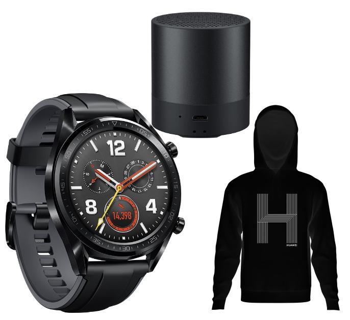 Huawei Sport Week: z.B. Huawei Watch GT + CM510 Mini Speaker + Hoodie - 84€ | Huawei TalkBand B6 + AH100 Körperanalysewaage + Hoodie - 159€