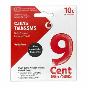 Vodafone: CallYa Talk & SMS Prepaid Karte mit 10 € Startguthaben kostenlos