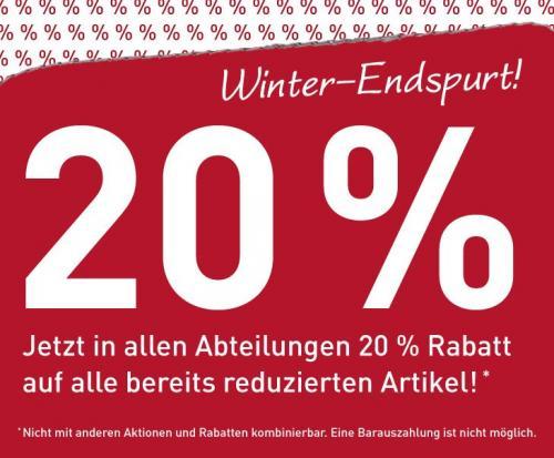 Modepark Röther (bundesweit) 20% Rabatt auf bereits reduzierte Ware