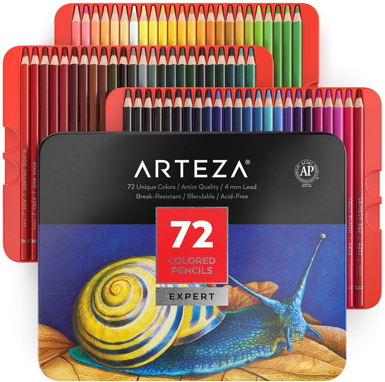 Arteza Professionelles Farbstift-Set (72 Stifte) [Amazon-Prime]