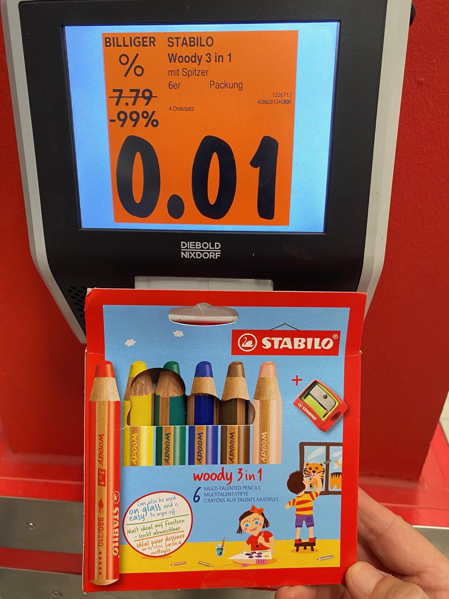 Kaufland haut die Schreibwaren vom Aktionsdisplay nochmals um 50% reduziert raus. Bundesweit
