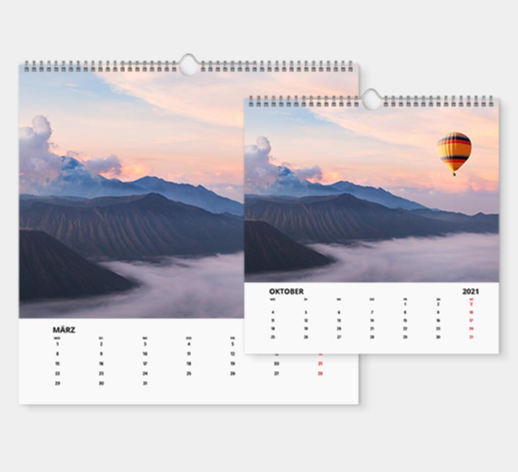 Fotokalender in Digitaldruck, A4 für 4,21€ + Versandkosten bei [Lidl Fotos]