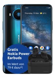 Nokia 8.3 5G im Telekom Congstar (8GB LTE, Allnet/SMS, VoLTE und VoWiFi) mtl. 20€ einm. 59,95€ | nach Ankauf 3,95€ mtl.