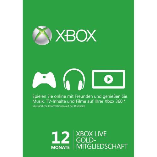 XBox Live Gold 12 Monate 37,50€ @ amazon.de