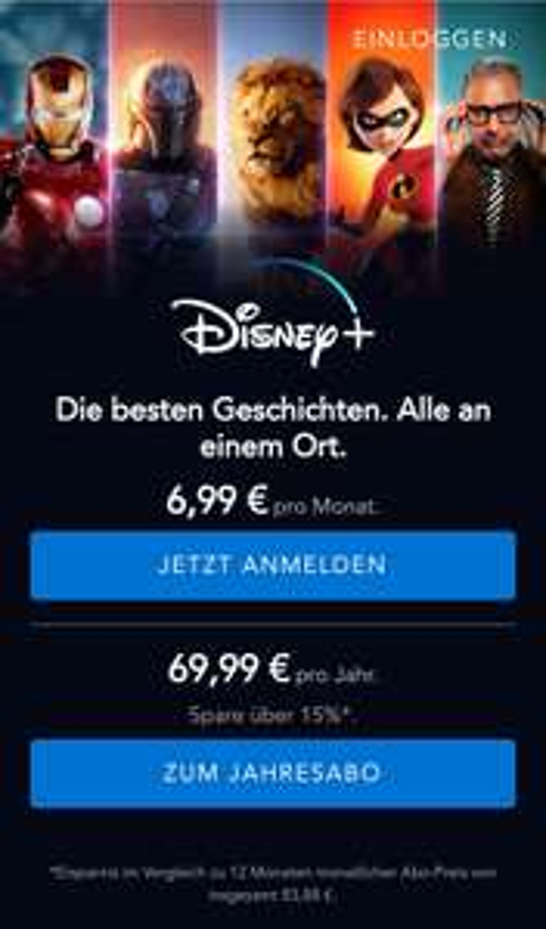 Disney+ 500 Extra Payback Punkte auf Monatsabo