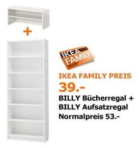 ikea billy regal aufsatz statt 53 nur 39 f r ikea family mitglieder. Black Bedroom Furniture Sets. Home Design Ideas