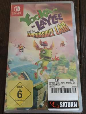 [Lokal Saturn MyZeil Frankfurt] Yooka-Laylee and the Impossible Lair (Nintendo Switch) 7,77€ + Spyro: Reignited Trilogy (PS4) 9,72€