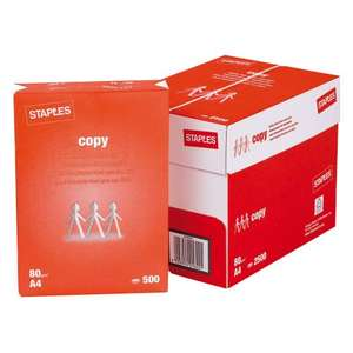 [staples.de] Staples Kopierpapier Druckerpapier A4 80 g/m² Weiß 5x500 Blatt für 8,78€ [1,76€/500 Blatt] [ggf. Auszeichnungsfehler]
