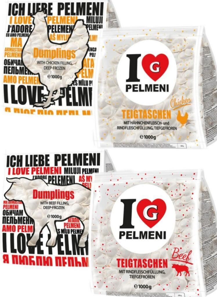 """[Mix Markt] 1000g Germes """"I Love Pelmeni"""" Teigtaschen in Herzform mit Fleischfüllung (2,99€/kg)"""