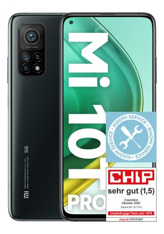 Xiaomi Mi 10T Pro 128 GB 5G schwarz oder silber + Displayversicherung + Deezer Abo im mobilcom-debitel o2 Free Unlimited Max für 34,99€ mtl.