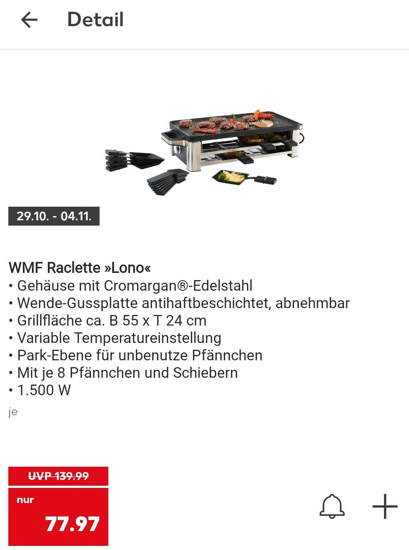 [Kaufland] WMF Raclette Lono mit 8 Pfännchen für 77,97€