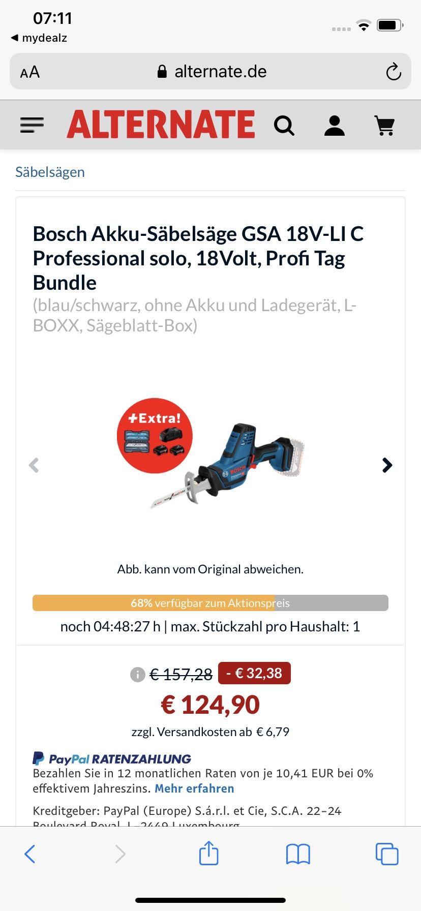 Bosch Professional GSA 18V-Li C
