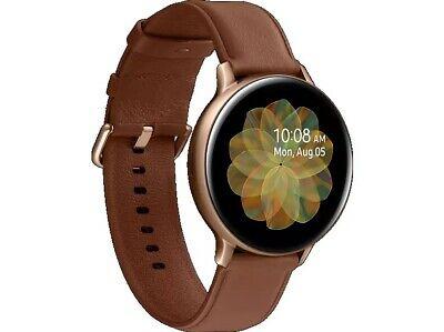 Samsung Galaxy Watch Active2 LTE Stainless Steel 44mm Gold Echtleder Armband