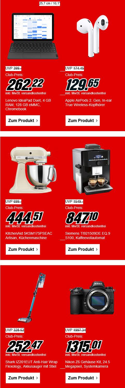 [MM Club] Media Markt Club-Preise - z.B. Apple AirPods 2 für 129,65€