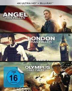 Olympus Has Fallen / London Has Fallen / Angel Has Fallen (4K Blu-ray + Blu-ray) für 44,99€ (Thalia & Amazon)