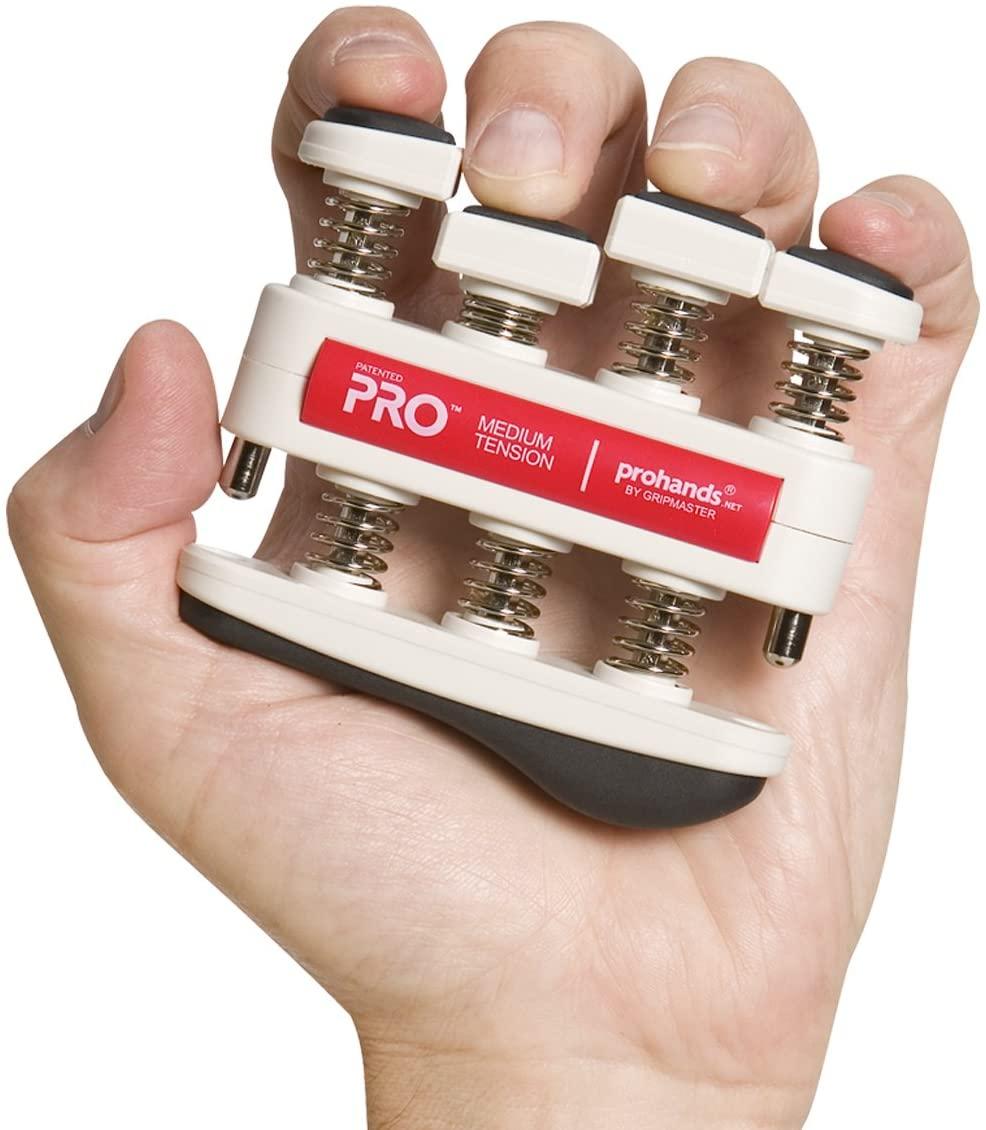 Wer das maximum aus seinen Händen rausholen will: Prohands Fingertrainer Pro (medium) | jeden Finger einzeln trainieren mit ~3kg pro Finger