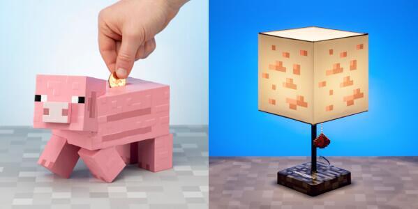 Bundle aus Minecraft Lampe und Sparschwein für 46,48€