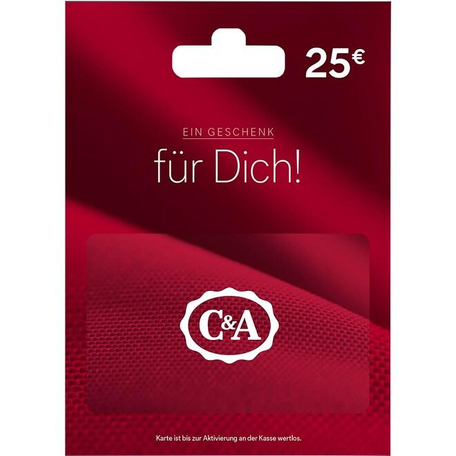20% Rabatt: 25€ Gutscheinkarte von C&A für nur 20€ [EDEKA NST/Südbayern + E Center Südwest]