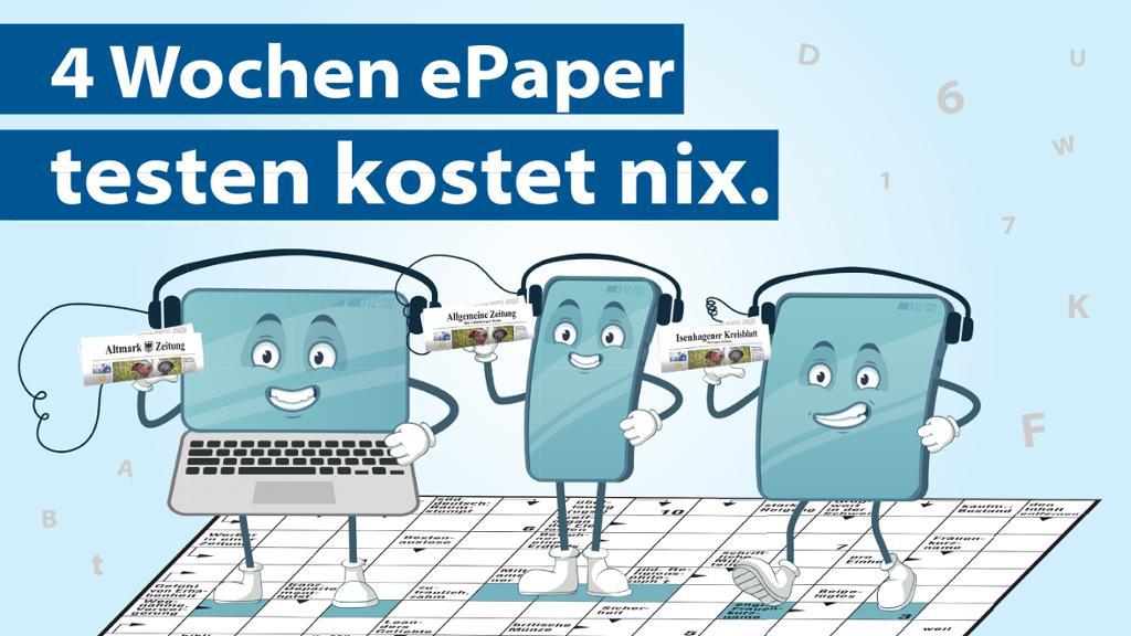4 Wochen E-Paper kostenlos, u.a. Allgemeine Zeitung (Regionale Tageszeitung)