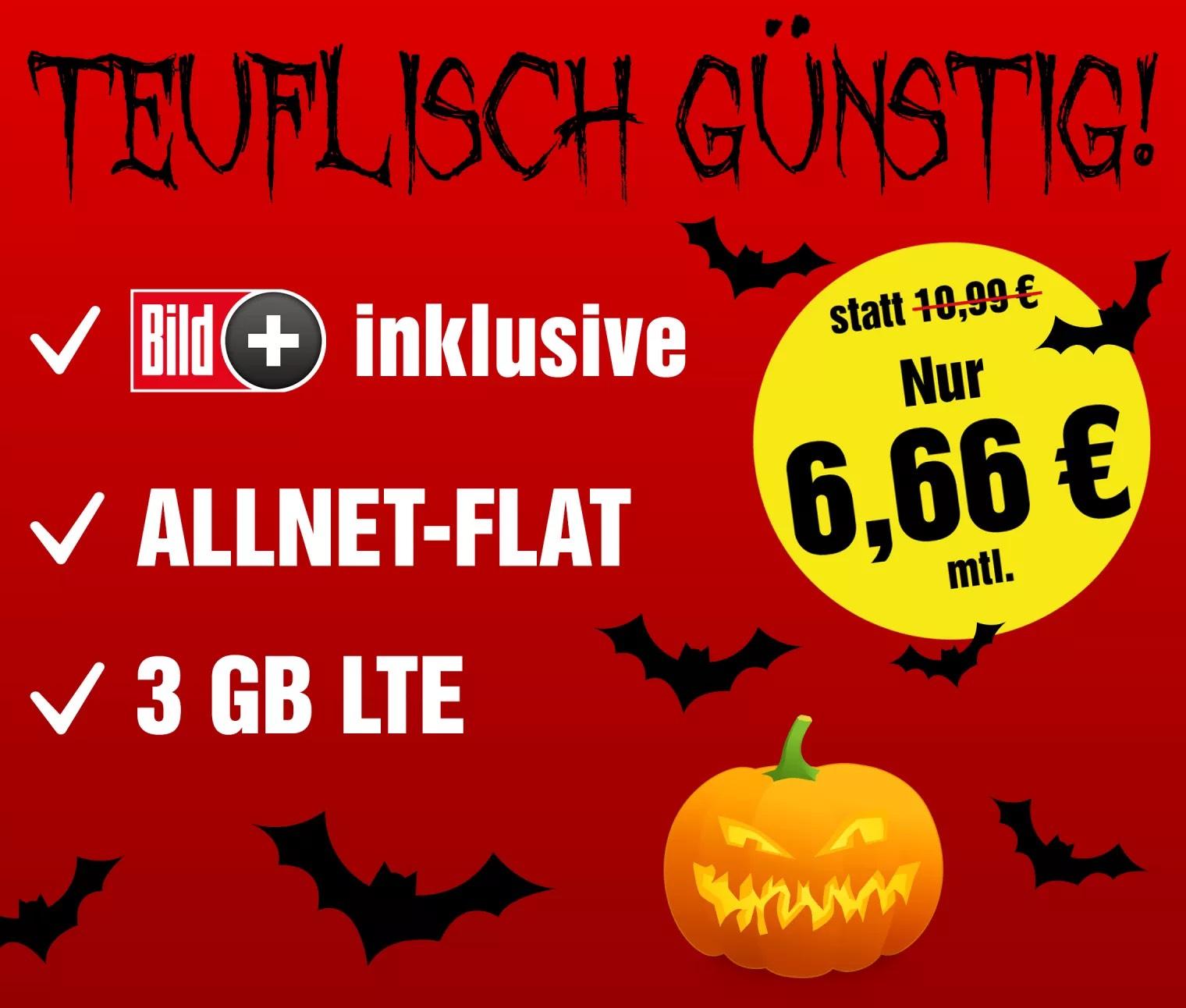 BildConnect LTE S für 6,66€ mtl. + 12€ Cashback + 5€ Shoop.de-Gutschein