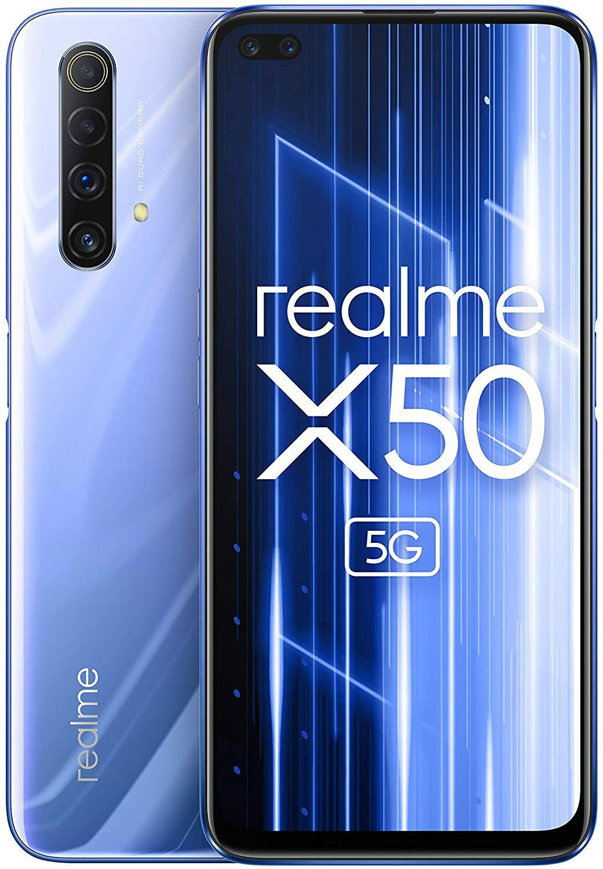 "Realme X50 Smartphone 6,57"" - 5G, FHD+ IPS 120Hz, Snap 765G, 6GB, 128GB, Dual-SIM, NFC, 4200mAh (Amazon.es)"