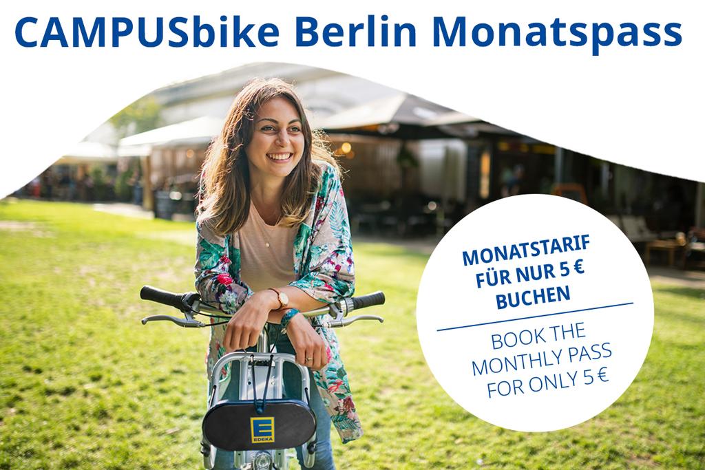 nextbike / CAMPUSbike für Berliner Studenten Monatspass, 30 Freiminuten pro Fahrt