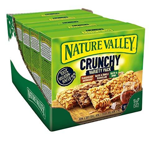 Nature Valley Crunchy Variety Pack, Müsliriegel, 5er Pack (5 x 210 g) SparAbo ab 5,94€