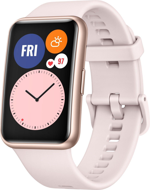 Sammeldeal z.B HUAWEI WATCH Fit Sakura Pink Smartwatch Silikon, 80-120 mm, Pink [Saturn & Amazon]