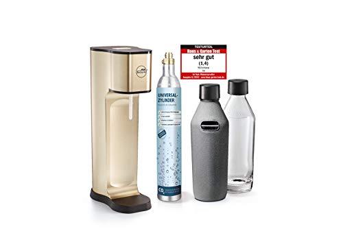 mySodapop Joy Prestige Champagne Trinkwassersprudler inkl. 2 Glaskaraffen & CO2-Zylinder