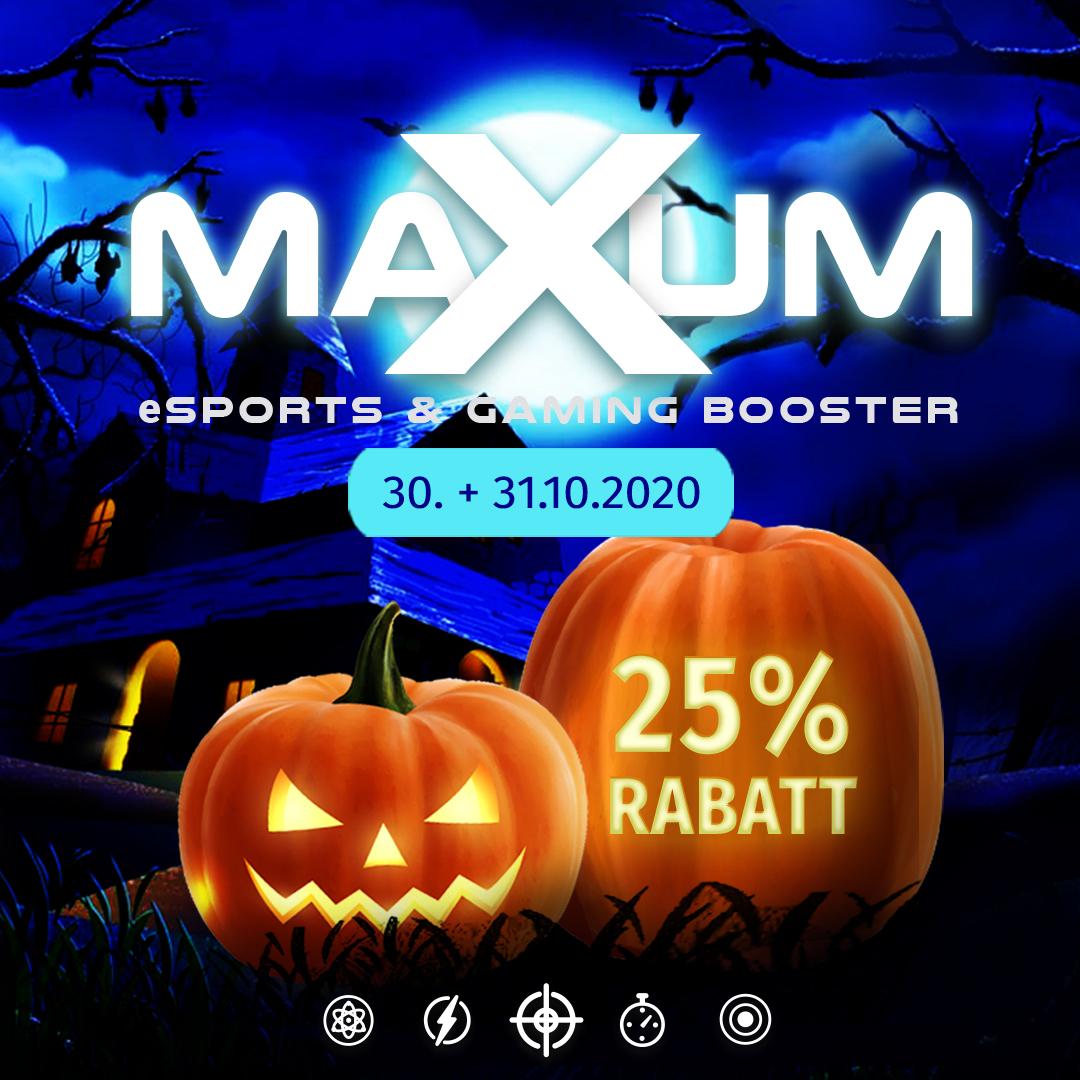25% Rabatt auf alle Gaming-Produkte Halloween Gaming Nights