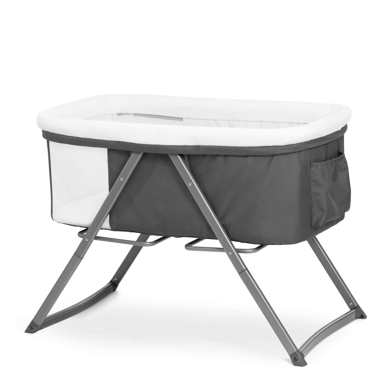 Hauck Dreamer Babywiege / Beistell- / Reisebett, inkl. Matratze und Spielzeugtasche / Schaukelfunktion, faltbar, klappbar & tragbar