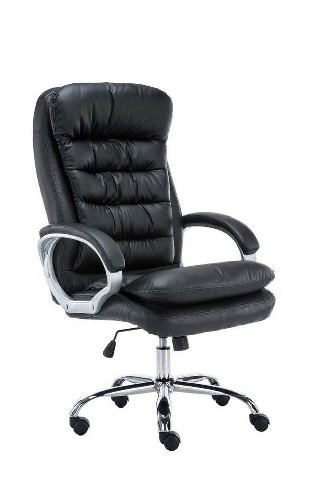 Günstiger Bürostuhl für schwere Jungs mit Stoff oder Kunstlederbezug (max. 235 kg Belastung)