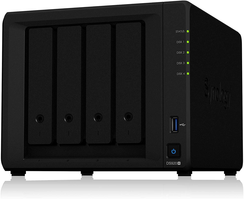 Synology Diskstation DS920+ 4 Bay Desktop NAS Leergehäuse (479,70€ mit Shoop)