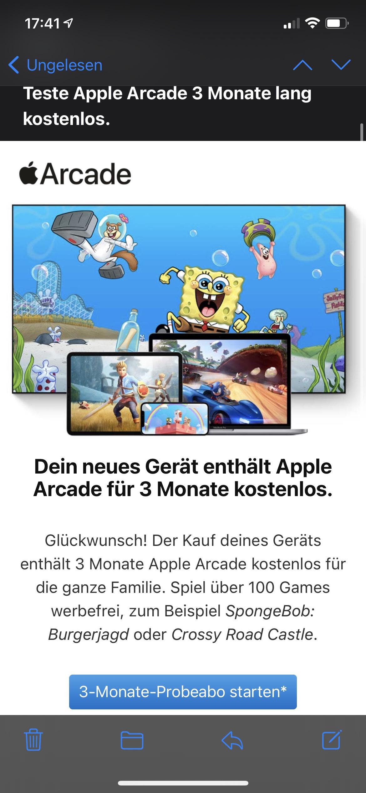 Apple Arcade 3 Monate kostenlos (bei Kauf eines Neugeräts)