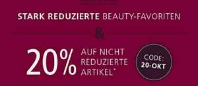 Parfümerie Pieper - 20% auf nicht reduzierte Artikel * Gültig bis 22Uhr