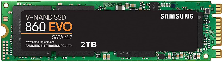 Samsung 860 EVO 2TB M.2 SATA SSD (2GB DRAM, SLC Cache, 3D TLC, 5 Jahre Garantie) [Amazon IT]