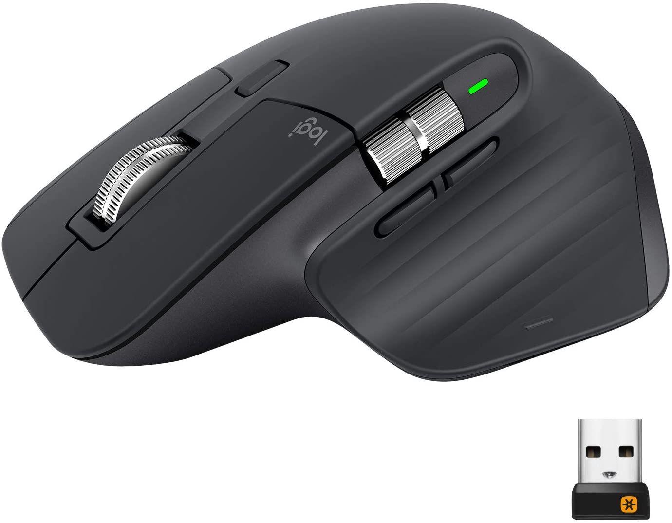 Logitech MX Master 3 - Kabellose Maus (Bluetooth, 2.4 GHz via USB-Empfänger, 4.000 DPI, Ultra-schnelles Scrollen, 7 Tasten)