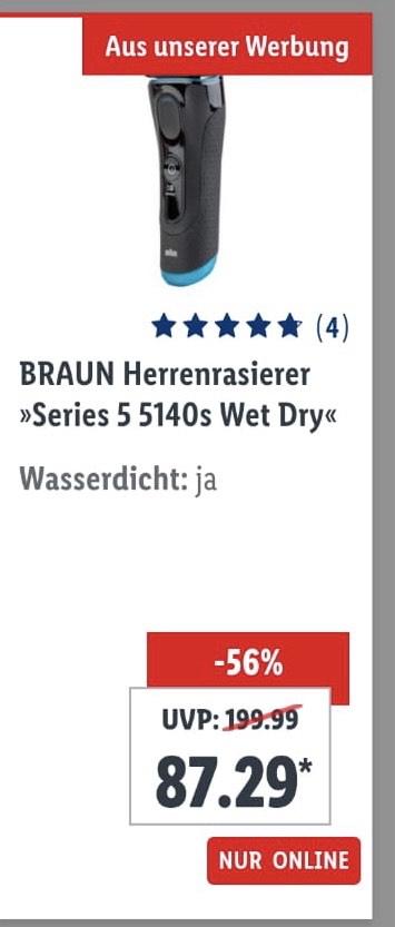 BRAUN Herrenrasierer »Series 5 5140s Wet Dry«