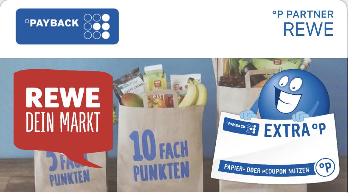 [Payback] 15-fach punkten beim nächsten Einkauf bei Rewe ab 40€ | entspricht einer Ersparnis von ca 7.5%