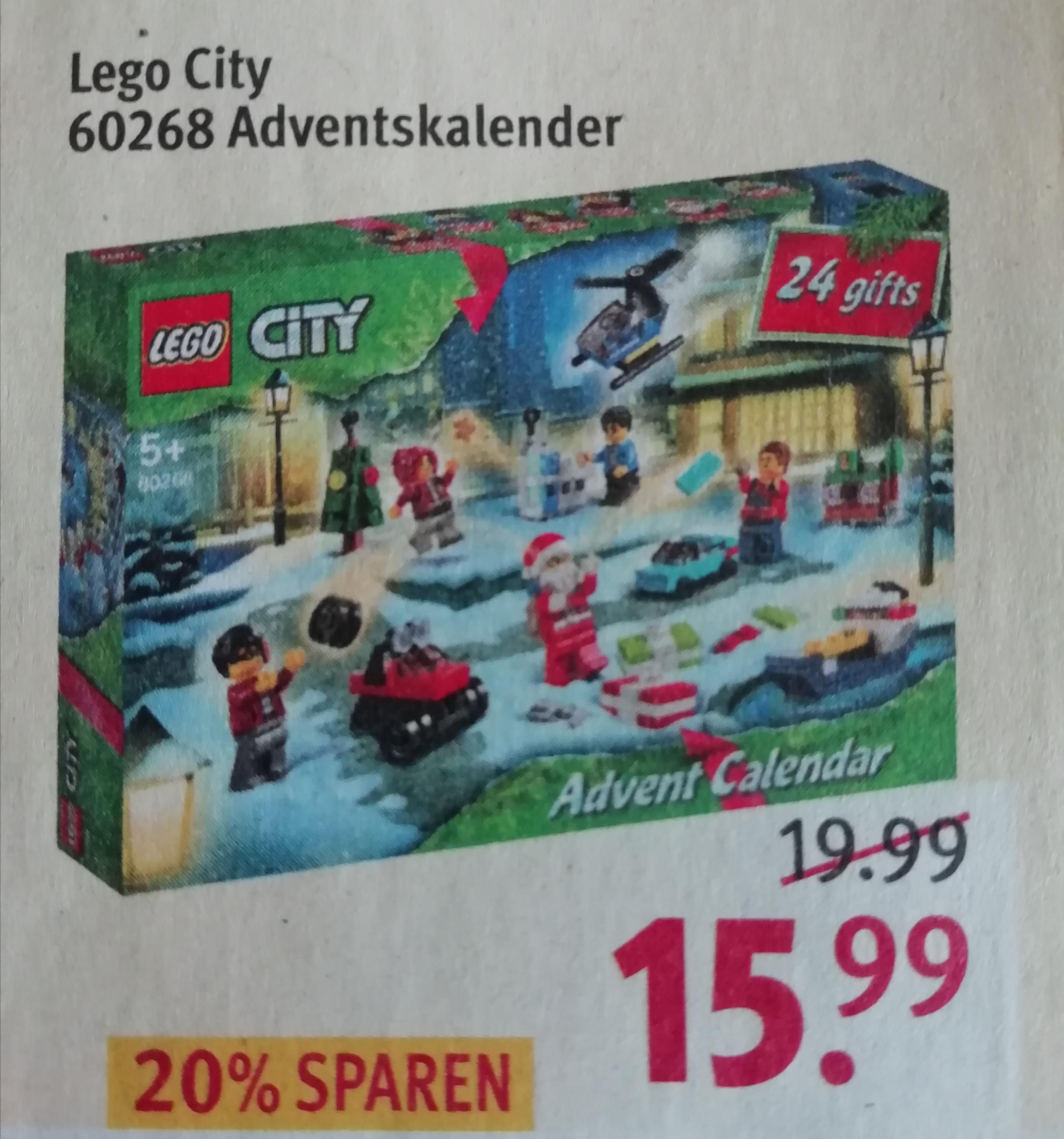 Lego City Adventskalender bei Rossmann mit 10% Coupon