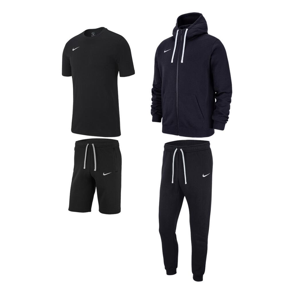 Nike Team Club 19 Set (Fleecejacke, Jogginghose, T-Shirt, Shorts)