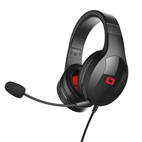 [Prime Blitzangebot] LIONCAST LX20, Over-ear Gaming, abnehmbares Mikrofon - Headset Schwarz