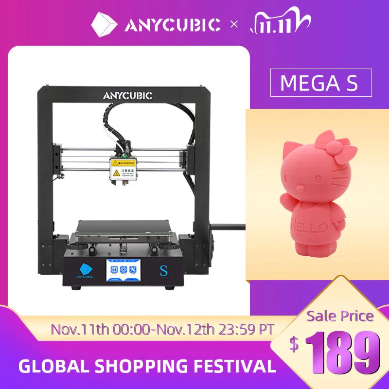 Anycubic I3 Mega-S 3D Drucker (3.5'' Touchscreen, FDM) für 164,92€
