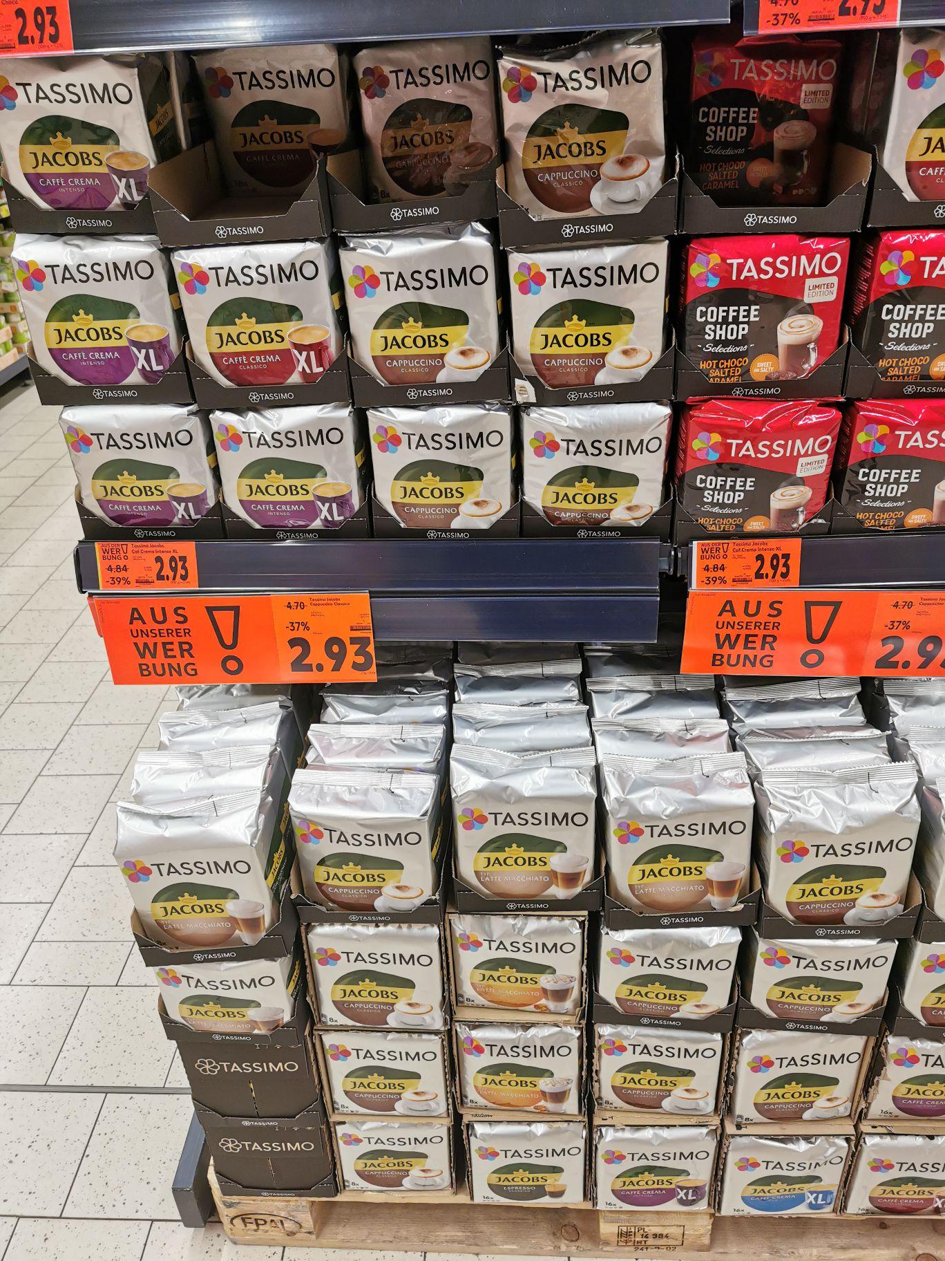 Tassimo Kaffeekapseln, alle Sorten - Preiskracher [Kaufland bundesweit]