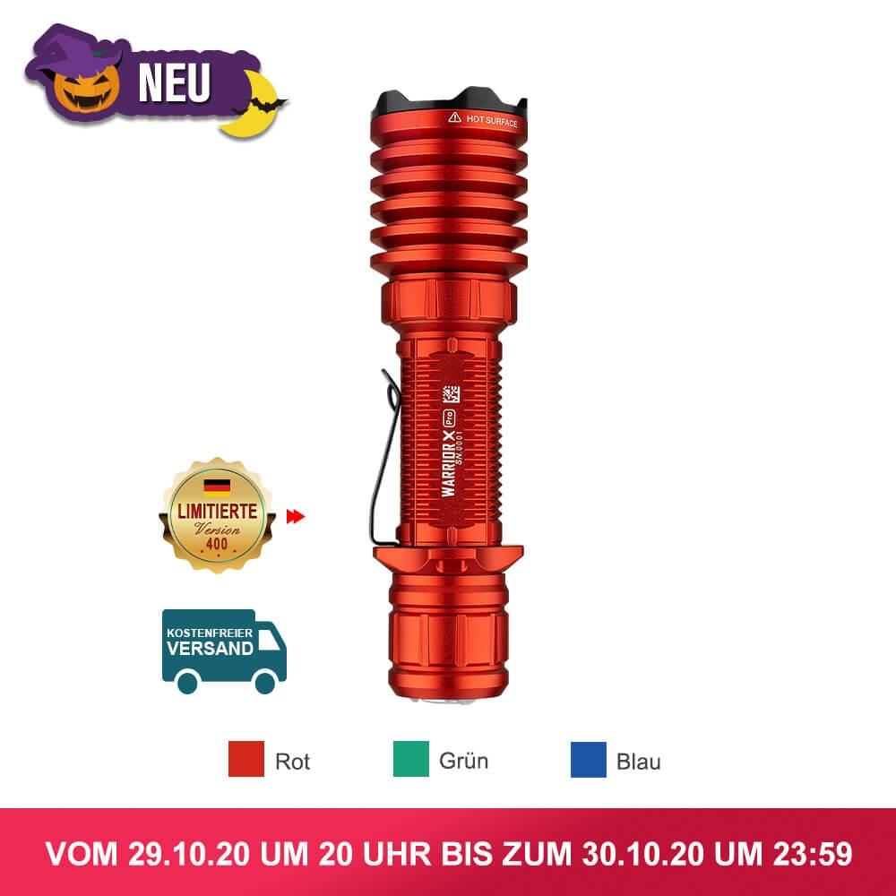 Olight Warrior X Pro Taschenlampe - 2.100 Lumen, 500m Reichweite, 5000mAh Akku | Olight Olantern für 65,47€ - 350 Lumen, 80 Stunden Laufzeit