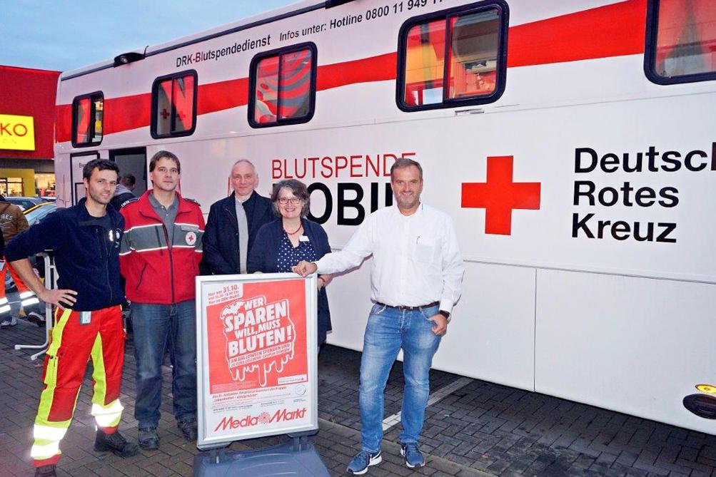 Mediamarkt Eschweiler (bei Aachen) - Blut spenden und 20€ Gutschein erhalten