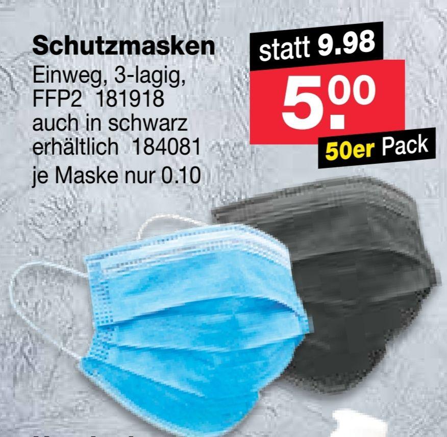 [RL Fundgrube] 50er Packung Schutzmasken für 5€ (0,10€/Stück)