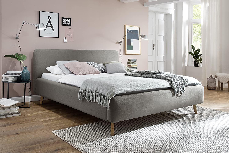 sette notti 180x200 cm Landhausstil Webstoff Taupe, Bett mit variabeler Einlasstiefe, Mattis Art Nr. 1454-10-5000 [Amazon]